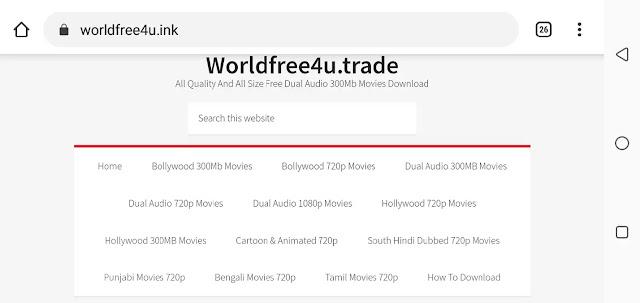 Worldfree4u 2020 - Free 300MB Dual Audio Bollywood Hollywood Movies