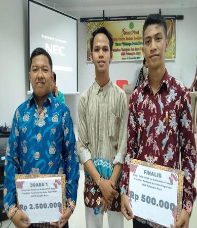 Mahasiswa PAI IAIN Palangka Raya Meraih Juara 1 dan Harapan 3 Lomba Karya Tulis Ilmiah Mahasiswa Se-Kalteng Yang Diadakan FTIK IAIN Palangka Raya