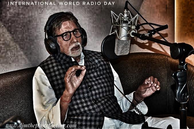 Amitabh Bachchan Bengali Radio FM radio jockey on National Radio day August 20
