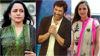 हेमा मालिनी और ईशा देओल सनी देओल की फिल्म 'घायल वंस अगेन' को प्रमोट कर रहीं हैं