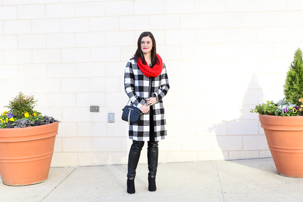 Naturally Me, Holiday Outfit Idea, How to Wear A Plaid Coat for the Holidays