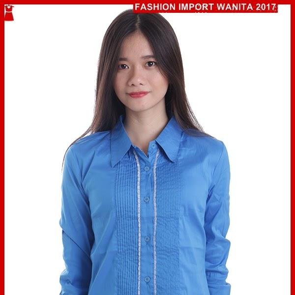 ADR040 Kemeja Blue Neci Tangan Panjang Import BMGS