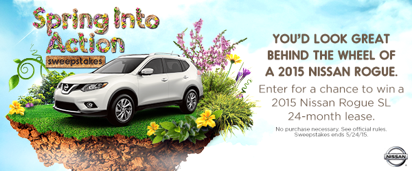 24 Month Lease >> 2015 Nissan Rogue 24 Month Lease Sweepstakes Sweeps By