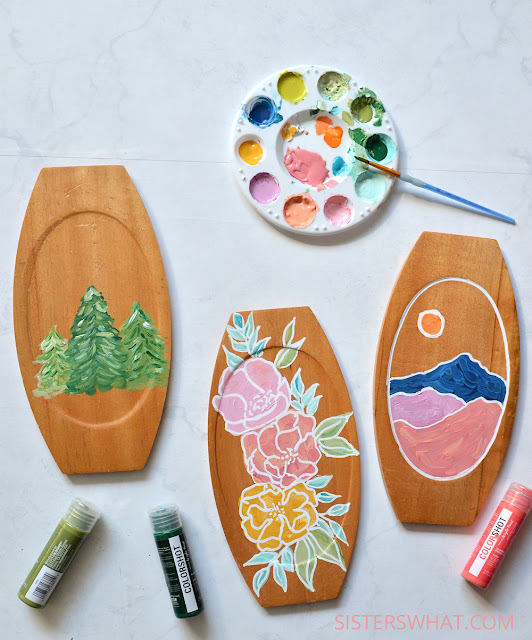 DIY Modern Painted Flower and Nature Scenes