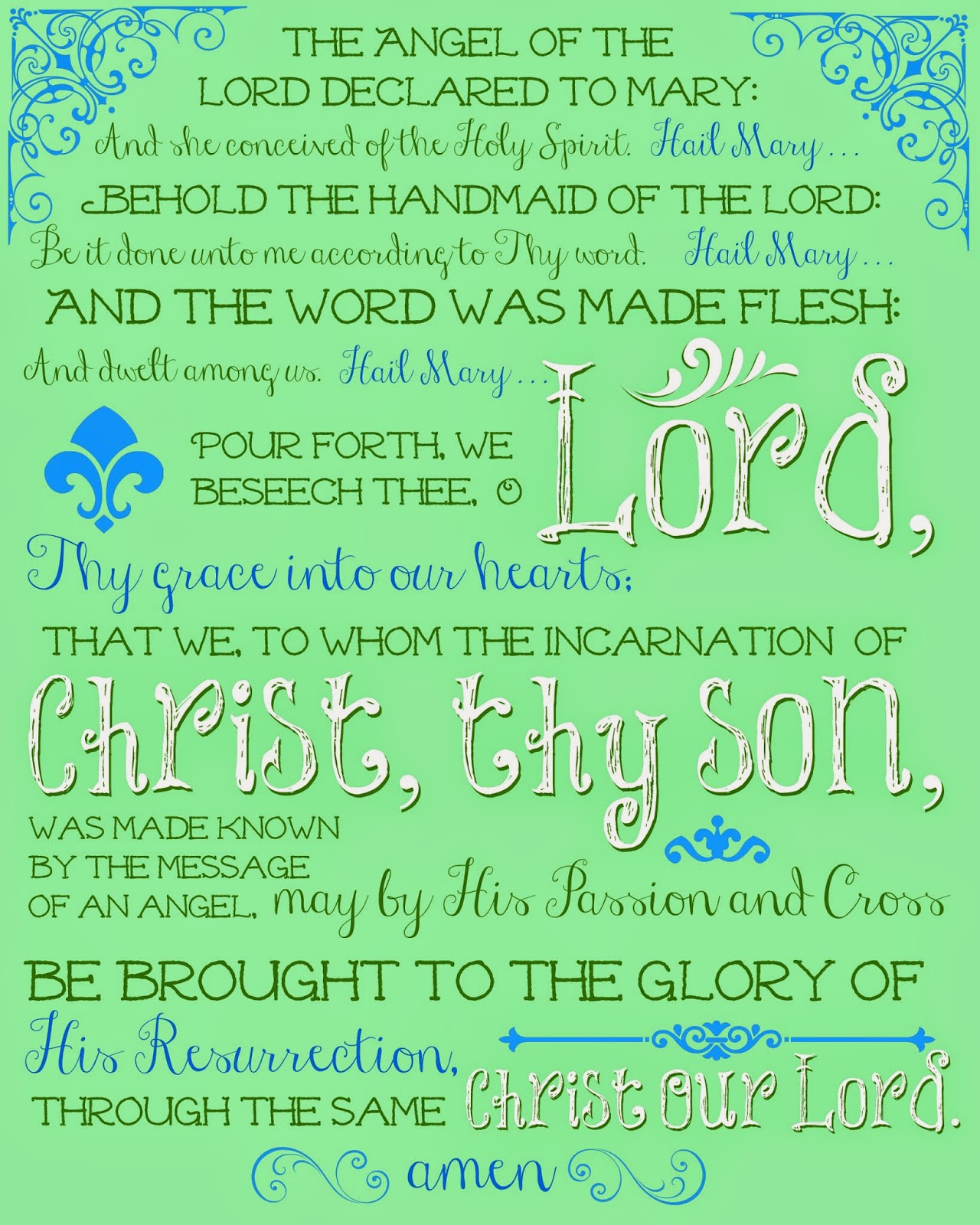 Catholic All Year Free Printable Prayers For Your