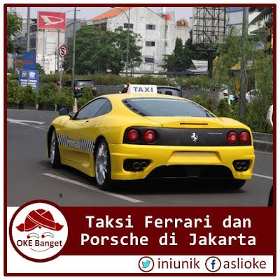 Taksi Ferrari dan Porsche di Jakarta, Gratis Naik Selama Seminggu Gambarnya Ada