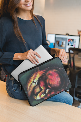 The Dream Chaser Laptop Sleeve by TET. Available from RedBubble.