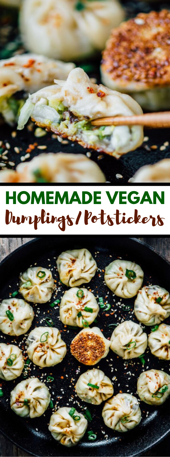 Homemade Vegan Dumplings/Potstickers #veggies #veganrecipe