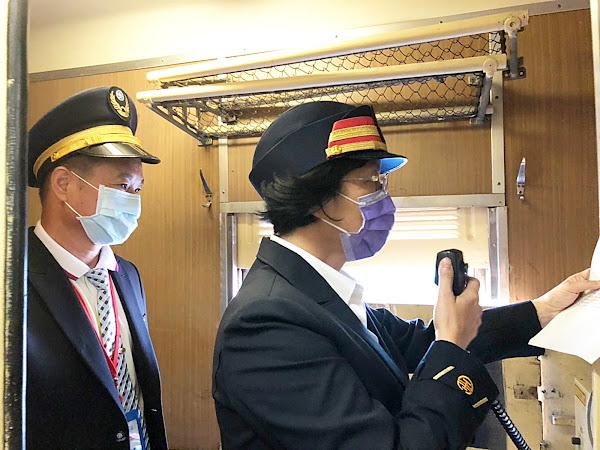 CK124蒸汽火車從彰化車站出發 搭火車去二水跑水節