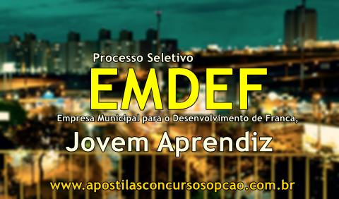 EMDEF Processo Seletivo Franca - Apostila Jovem Aprendiz