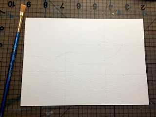5x7 watercolor paper with light grid lines photo by Tina M.Welter