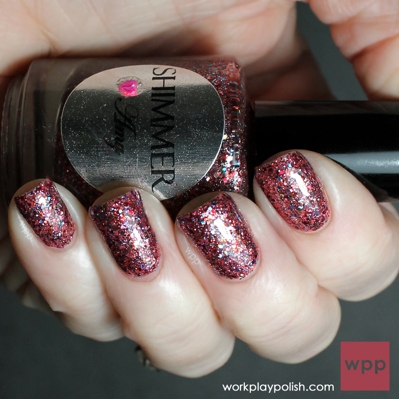 Shimmer Polish Amy over Zoya Farah (work / play / polish)