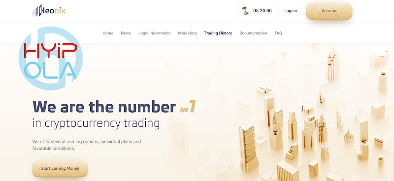 [NOT MONITORED] Review Heonix - Tham gia đầu tư cùng công ty Trading Mỹ với lãi từ 0.8% hằng ngày