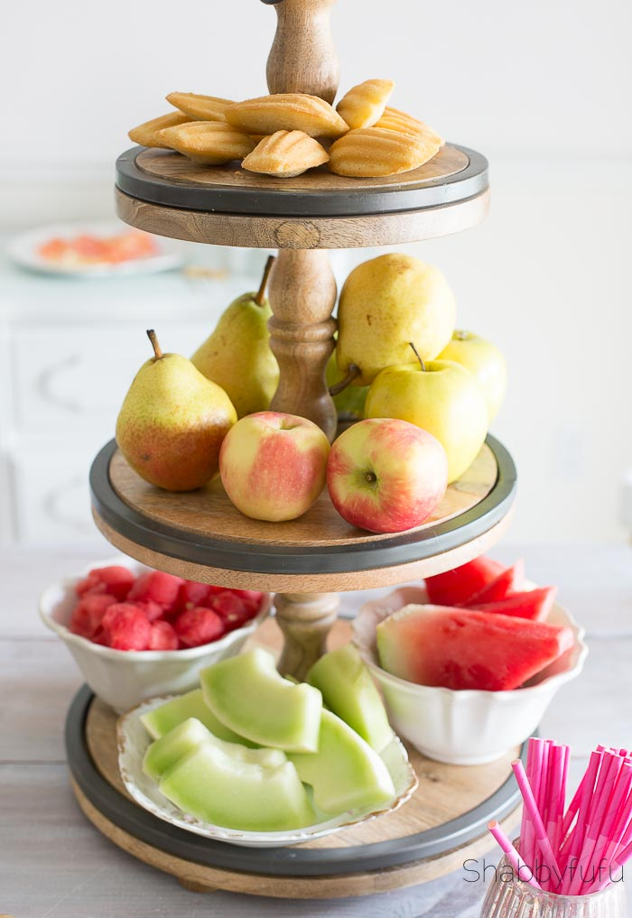 tiered tray fruit