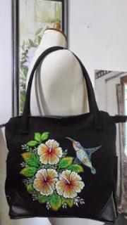 tas bordir anggrek dan burung kolibri