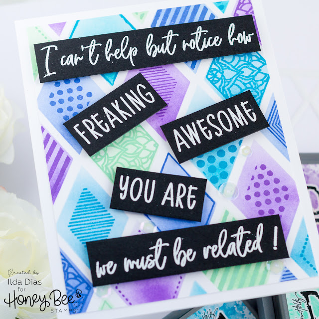 You Are Freaking Awesome for Honey Bee Stamps Happy BEE Day Release Preview by ilovedoingallthingscrafty.com
