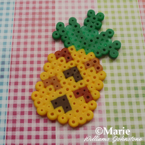 Tropical Pineapple Perler Bead Pattern Tutorial Great for Summer Crafting
