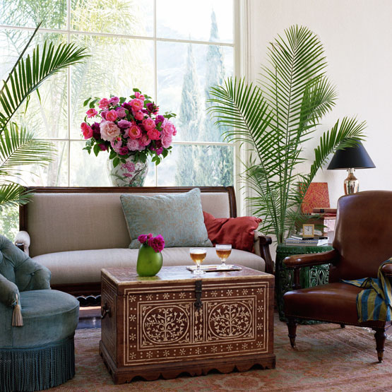 global accent exotic ethnic flair decorating indoor plants ...