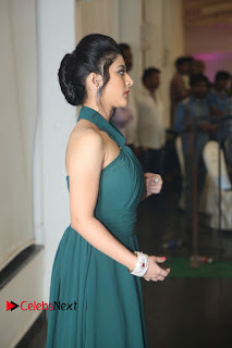 Actress Shriya Sharma Pictures in Long Dress at Nirmala Convent Audio Launch 0028