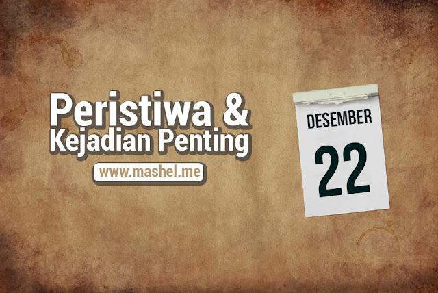 Peristiwa dan Kejadian Penting Tanggal 22 Desember