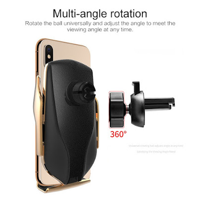 Wireless Car Charger & Mount Holder Clamping