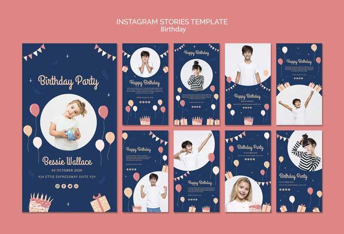 Birthday Instagram Stories Template
