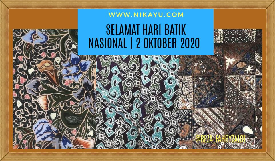 Twibbon Poster Ucapan Hari Batik Nasional 2020