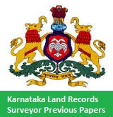 Karnataka Land Records Surveyor Previous Papers