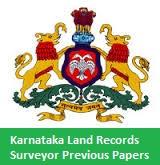 Karnataka Land Records Surveyor Previous Papers