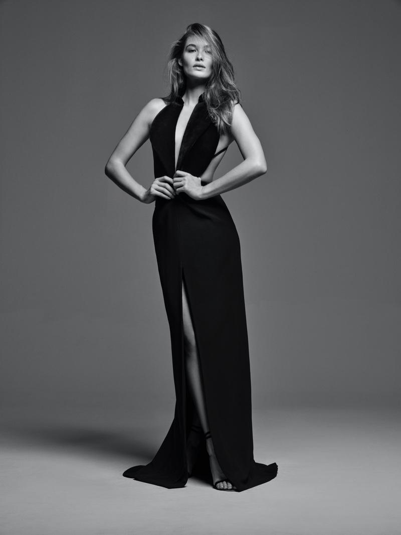 Grace Elizabeth models Brandon Maxwell Classics Collection II