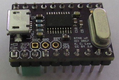 Hardware by design: STM8 breakout board with USB Serial