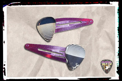 "Queen ""Jazz"" Album Guitar Pick Hair Clips  $5.00"