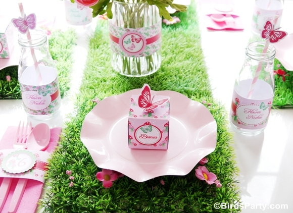 Pink Pixie Fairy Birthday Party Table - BirdsParty.com
