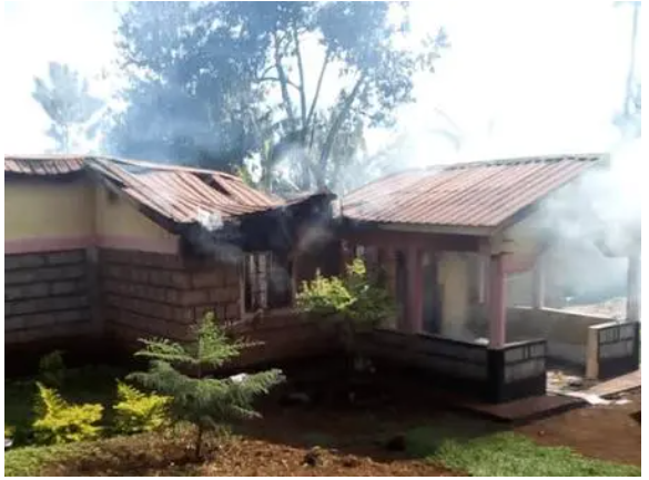 Kenyan woman sets her husband house on fire after he married a 2nd wife