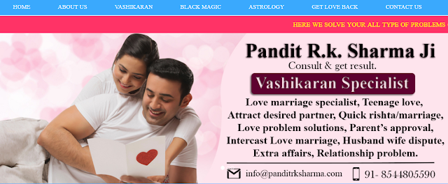 Get 100% Free advice by Pandit RK Sharma Ji. He is one of the best and world wide famous Vashikaran Expert. Not only in Vashikaran but no 1 among the other astrologers in chicago.