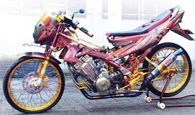 Motor Modifikasi Thailook Satria Fu