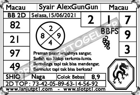 Syair Alexgungun Togel Macau Selasa 15 Juni 2021