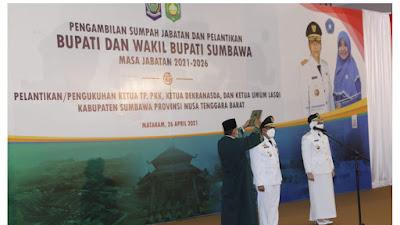Lantik Bupati dan Wakil Bupati Sumbawa, Ini Permintaan Gubernur NTB