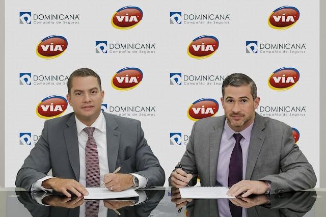 VIA y la Compañía Dominicana de Seguros firman acuerdo para ofrecer seguros de protección vehicular