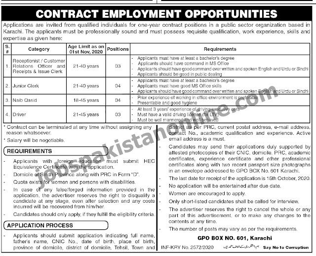 Jobs n Karachi Pakistan | Government Jobs 2020