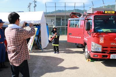 赤とんぼフェスティバルinいくさか2016 二日目 消防団活動
