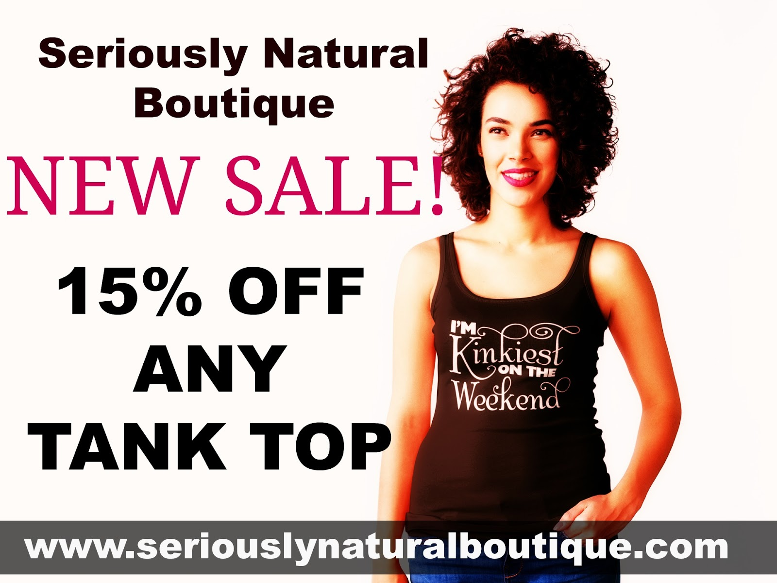 15% Off Tanks At Seriously Natural Boutique