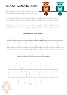 Belajar Membuat Huruf A – Z Sederhana dari Huruf Titik Titik