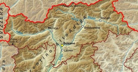Fiumi Del Trentino Alto Adige Cartina.Ultima Stella A Destra I Fiumi Del Trentino