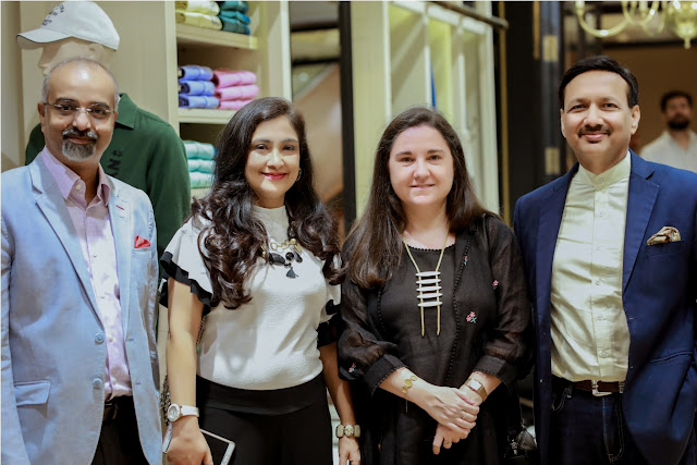 Shubhra Prakash along with other guests at the Fall Winter Collection Launch by La Martina