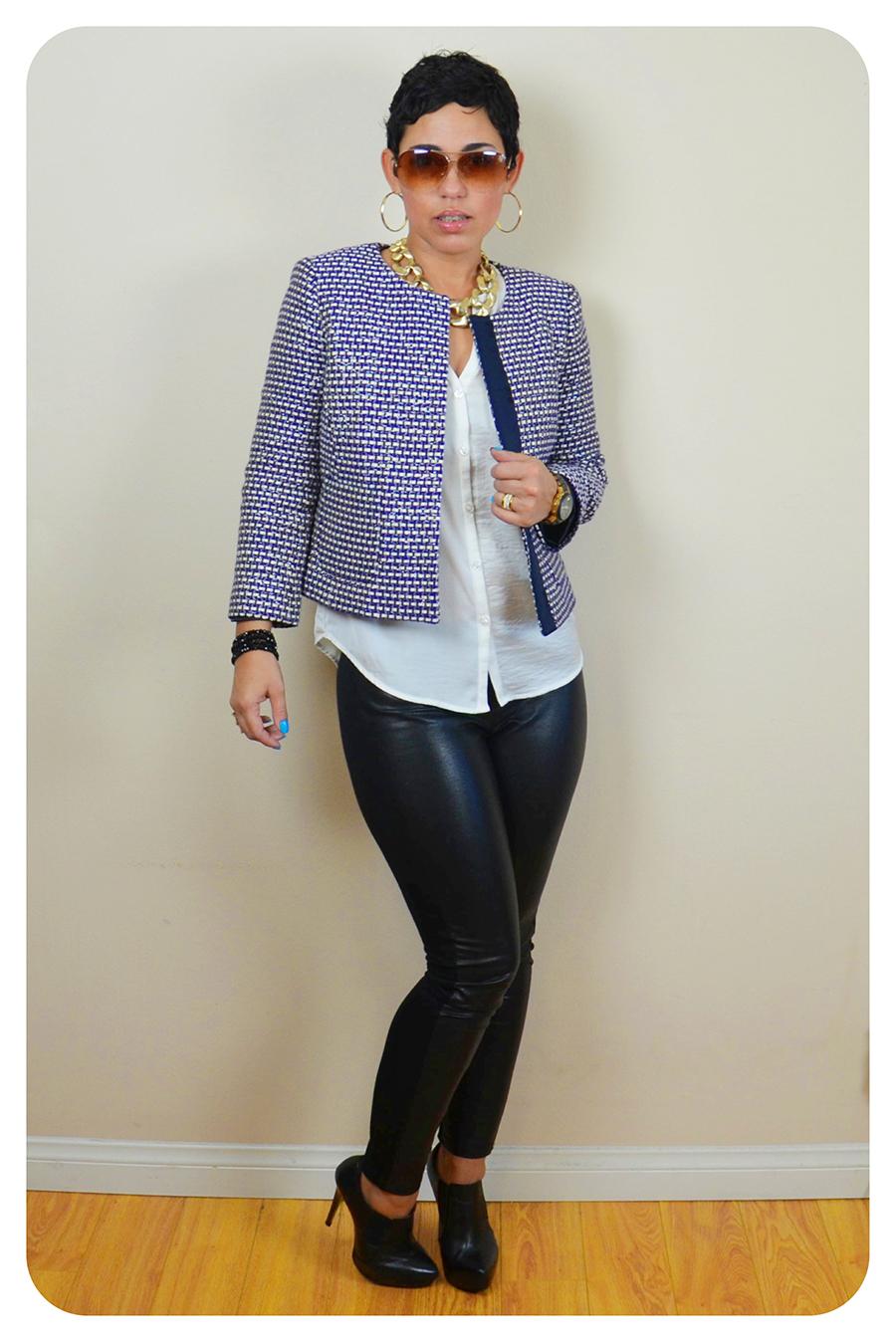 Ootd Leather Leggings J Crew Jacket Fashion
