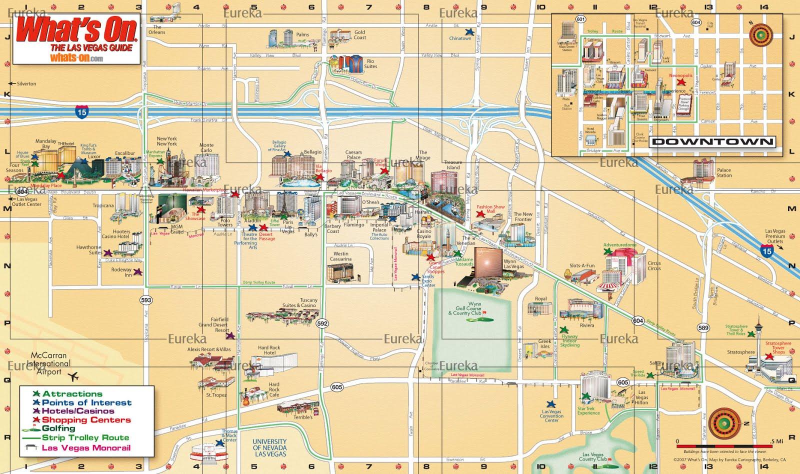 Mapas De Las Vegas Usa Mapasblog