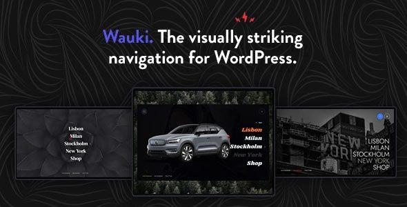 Wauki v1.1 - Fullscreen WordPress Menu