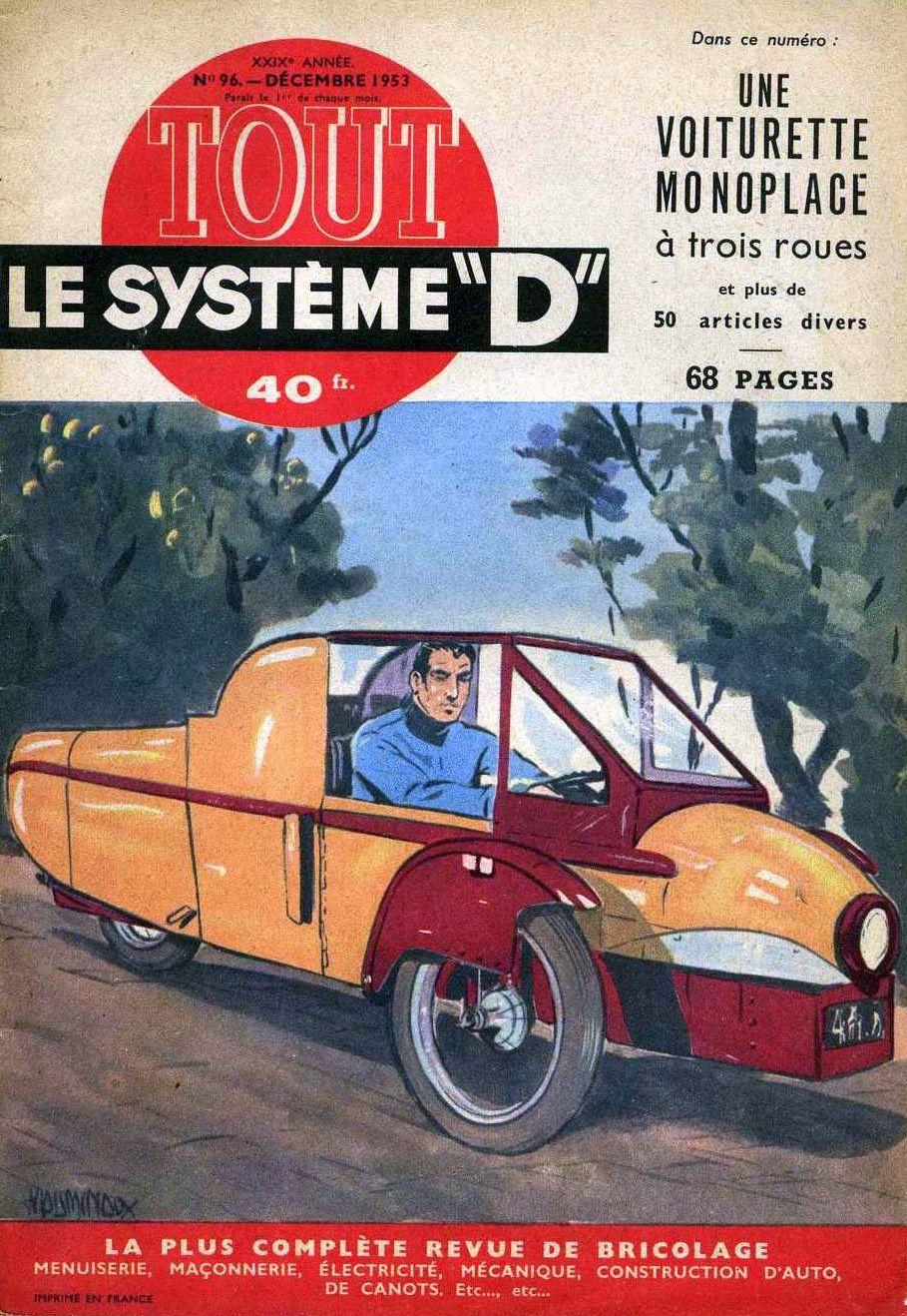 transpress nz 39 voiturette monoplace trois roues 39 1953. Black Bedroom Furniture Sets. Home Design Ideas