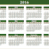 2016 Islamic Printable Calendar - UAE, Pakistan, Saudi Arabia